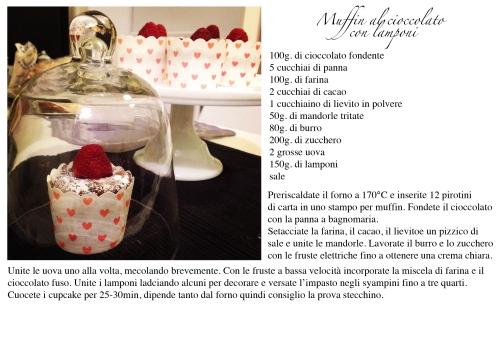 muffin al cioccolato con lamponi